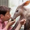Schweinerei: hr3-Chef knutscht Erdferkel Elvis