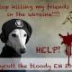 Shitstorm over Bloodstorm – Protestaktion für ukrainische Straßenhunde rockt Facebook