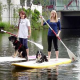Stand Up Paddling mit Hund