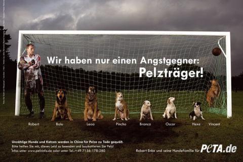 Tierschützer Robert Enke - (c) PETA Deutschland